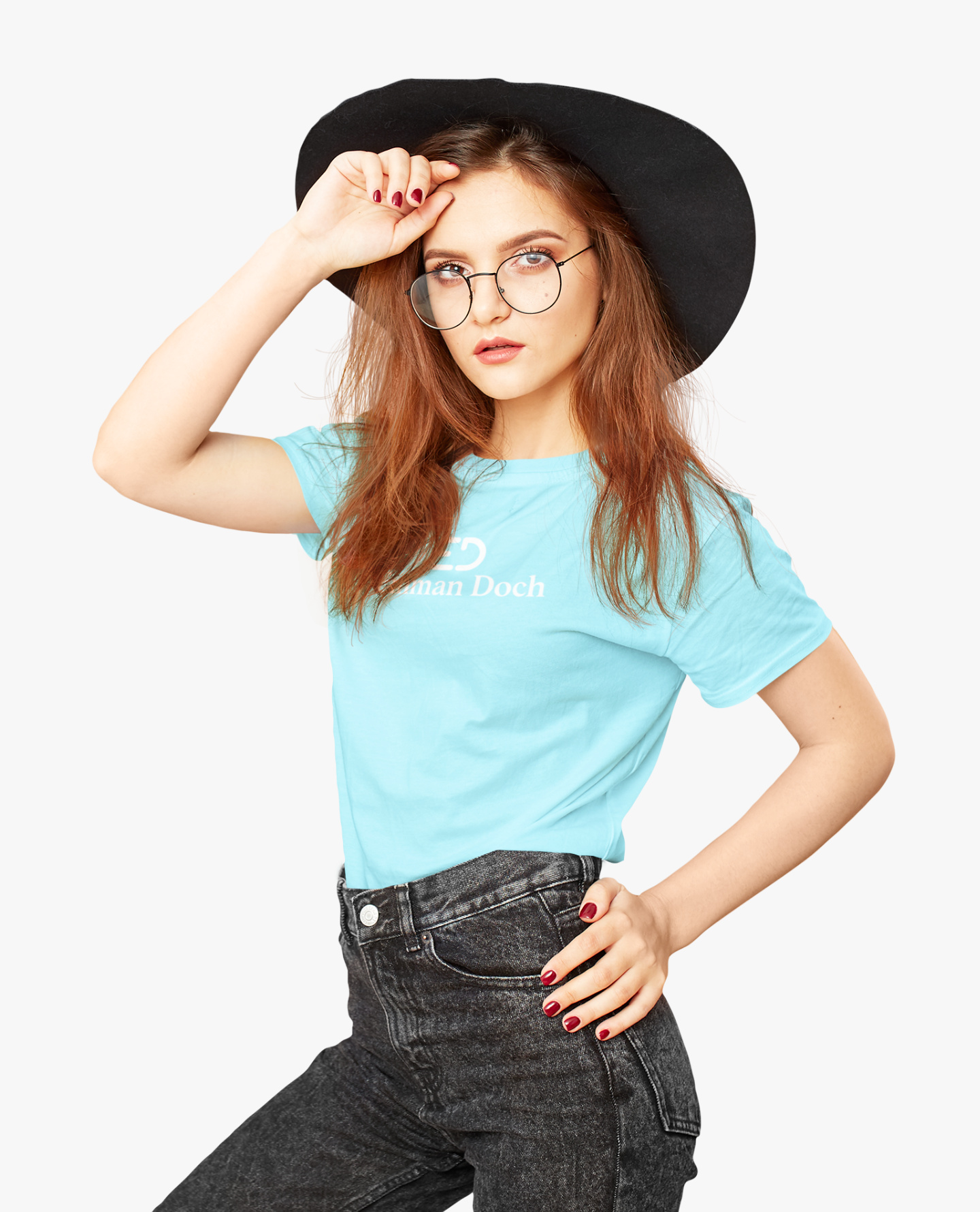 The ED White Logo T-shirt in Turquoise