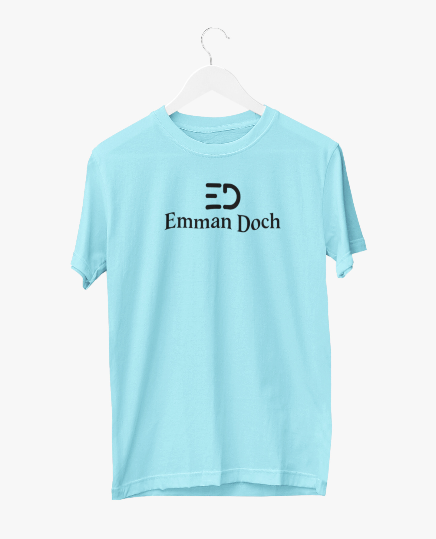 The ED Black Logo T-shirt in Turquoise